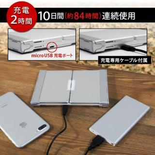 Bluetooth3.0 ワイヤレス折りたたみ式英語配列78キーボード ホワイトキー/シルバー_9