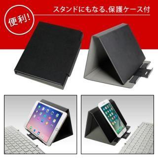 Bluetooth3.0 ワイヤレス折りたたみ式英語配列78キーボード ホワイトキー/シルバー_10