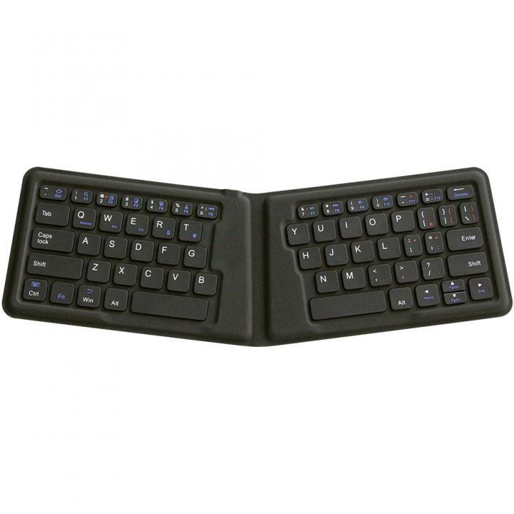 Bluetooth3.0 ワイヤレス折りたたみ式英語配列64キーエルゴノミクスキーボード ブラック