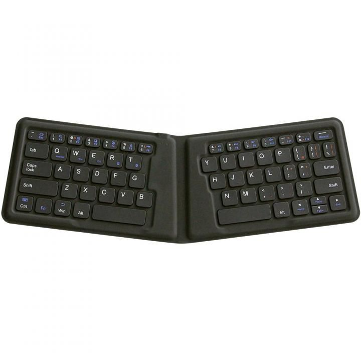 Bluetooth3.0 ワイヤレス折りたたみ式英語配列64キーエルゴノミクスキーボード ブラック_0