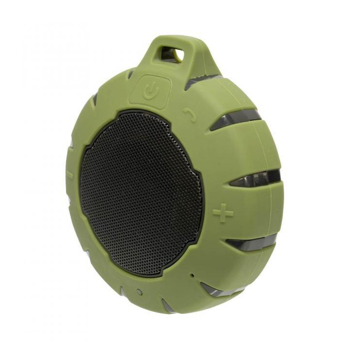水に浮く Bluetooth コンパクト防水スピーカー カーキ