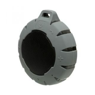 水に浮く Bluetooth コンパクト防水スピーカー グレー
