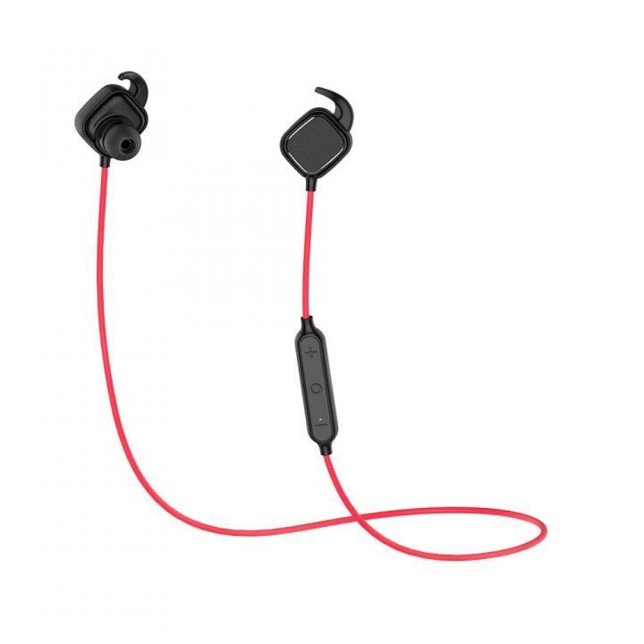 Bluetooth4.1 ワイヤレスイヤホン マグネットスイッチ マイク内蔵 レッド_0