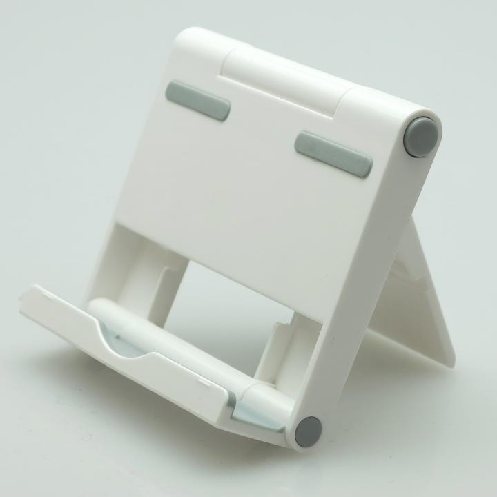 角度調整機能付き タブレットPC用スタンド パディングⅡ ホワイト_0