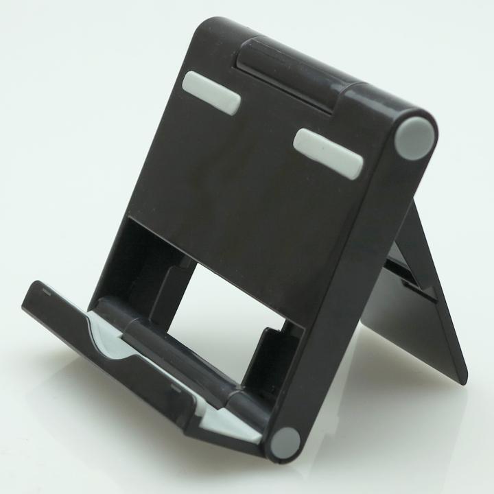 角度調整機能付き タブレットPC用スタンド パディングⅡ ブラック