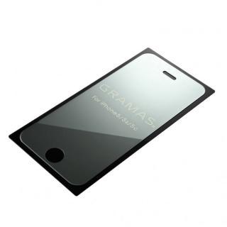 【iPhone SE/その他の/iPodフィルム】GRAMAS ミラー強化ガラス シルバー iPhone SE/5s/5/5c