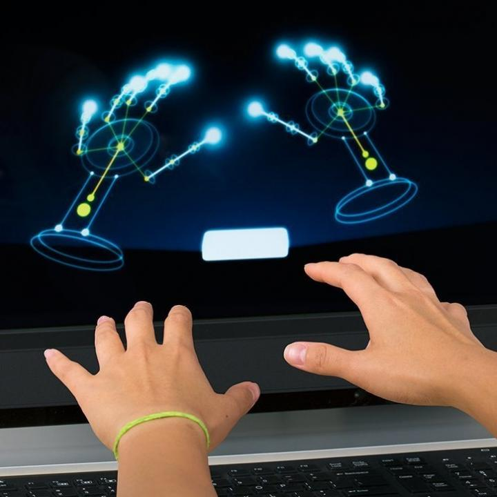 Leap Motion 小型モーション(手の動きでコンピュータ操作)コントローラー 3Dモーション キャプチャー