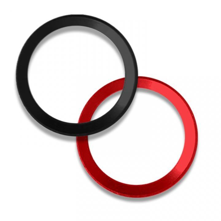 ホームボタンリング Touch IDも感度低下ゼロ truffol Layered Ring ジェットブラック/レッド_0