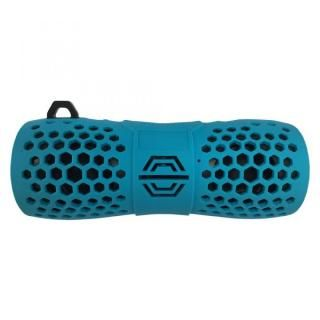 Bluetooth 防水スピーカー IP66 マイク機能 カラビナ付 6W ライトブルー