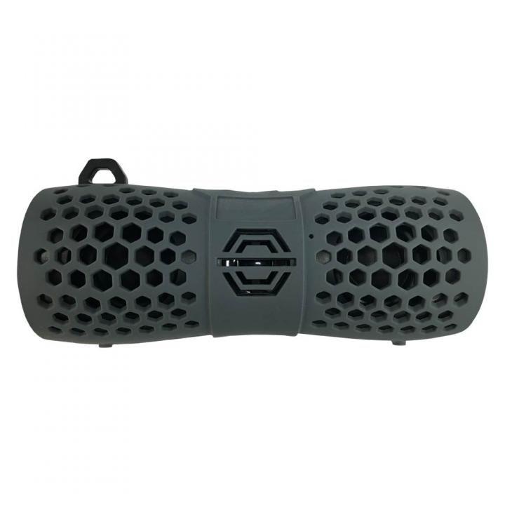 Bluetooth 防水スピーカー IP66 マイク機能 カラビナ付 6W グレー_0