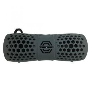 Bluetooth 防水スピーカー IP66 マイク機能 カラビナ付 6W グレー