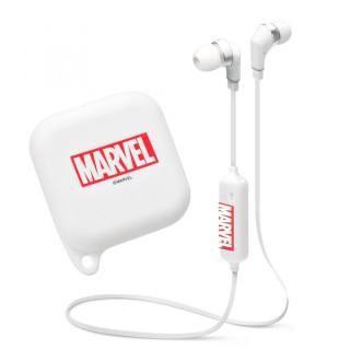 MARVEL ワイヤレスステレオイヤホン シリコンポーチ付き Bluetooth 4.1搭載  ロゴ/ホワイト