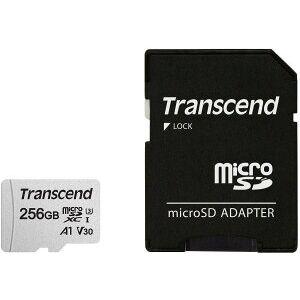 トランセンド 256GB UHS-I U1 microSDXCカード(変換アダプター付)【3月下旬】