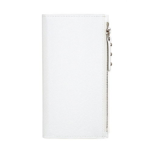 【iPhone7ケース】ファスナーポケット付き手帳型ケース Zipper Wallet Diary ホワイト iPhone 7_0