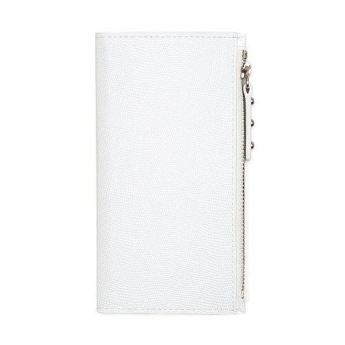 ファスナーポケット付き手帳型ケース Zipper Wallet Diary ホワイト iPhone 7