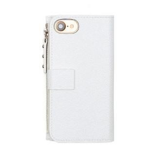 【iPhone7ケース】ファスナーポケット付き手帳型ケース Zipper Wallet Diary ホワイト iPhone 7_1