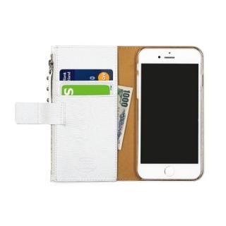 【iPhone7ケース】ファスナーポケット付き手帳型ケース Zipper Wallet Diary ホワイト iPhone 7_2