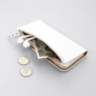【iPhone7ケース】ファスナーポケット付き手帳型ケース Zipper Wallet Diary ホワイト iPhone 7_3