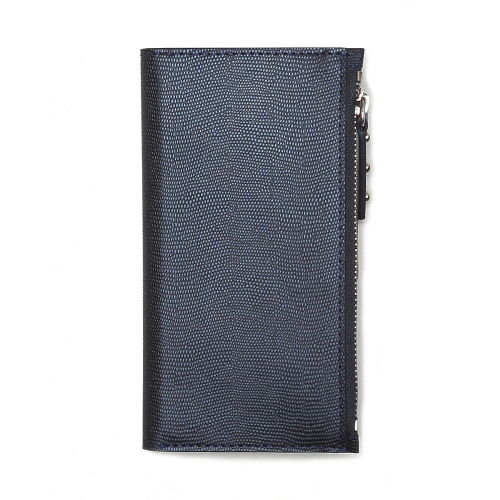 【iPhone7ケース】ファスナーポケット付き手帳型ケース Zipper Wallet Diary ネイビー iPhone 7_0