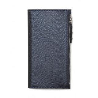 ファスナーポケット付き手帳型ケース Zipper Wallet Diary ネイビー iPhone 7
