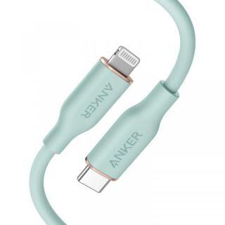 Anker PowerLine III Flow USB-C & ライトニングケーブル 0.9m ミントグリーン