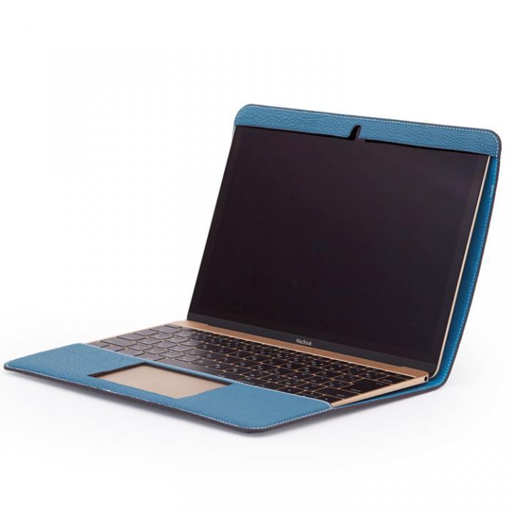CAVALIERI Primo ドイツ製トゴレザー Macbook 12inch Cover  アクアブルー_0