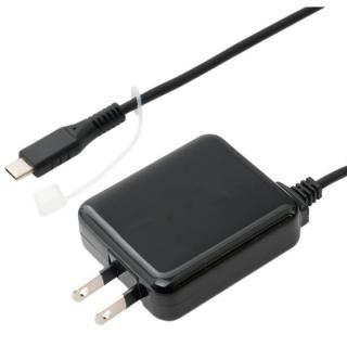 ロングケーブル一体型 USB Type-C対応 充電用ACアダプタ ブラック