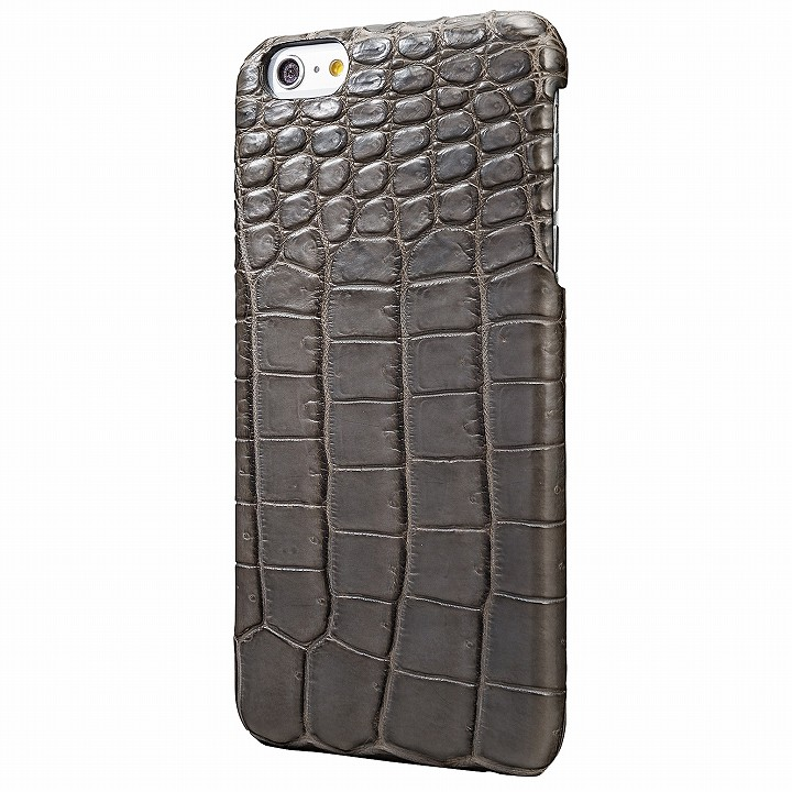 GRAMAS Meister クロコダイル レザーケース ライトグレー iPhone 6s Plus/6 Plus