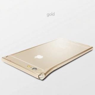 【3月中旬】アルミバンパー U rolett(ローレット) ゴールド iPhone 6 Plus