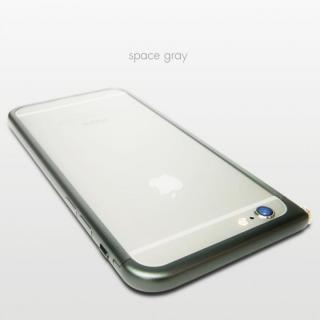 【3月中旬】アルミバンパー U Nook(ヌーク) スペースグレー iPhone 6 Plus