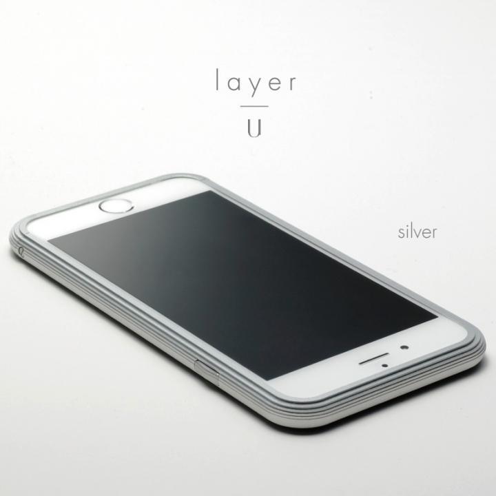 アルミバンパー U layer(レイヤー) シルバー iPhone 6 Plus