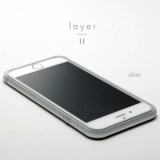 【3月中旬】アルミバンパー U layer(レイヤー) シルバー iPhone 6 Plus