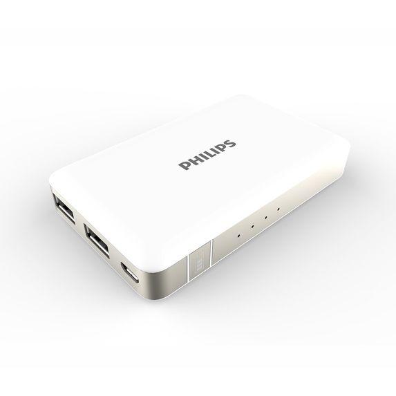 [5000mAh]PHILIPS モバイルバッテリー ホワイト