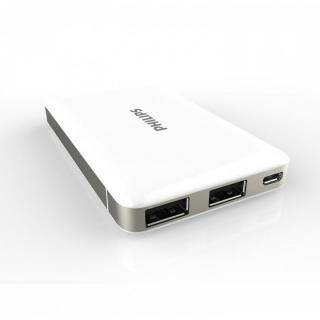 [5000mAh]PHILIPS モバイルバッテリー ホワイト_4