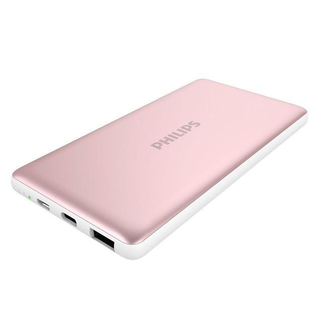 [10000mAh]PHILIPS モバイルバッテリー Type-C&USB A ローズゴールド