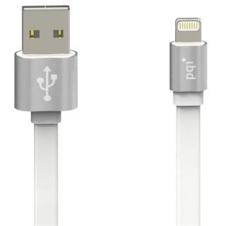 [1m]Lightningフラットケーブル メタルタイプ MFi認証取得品 シルバー