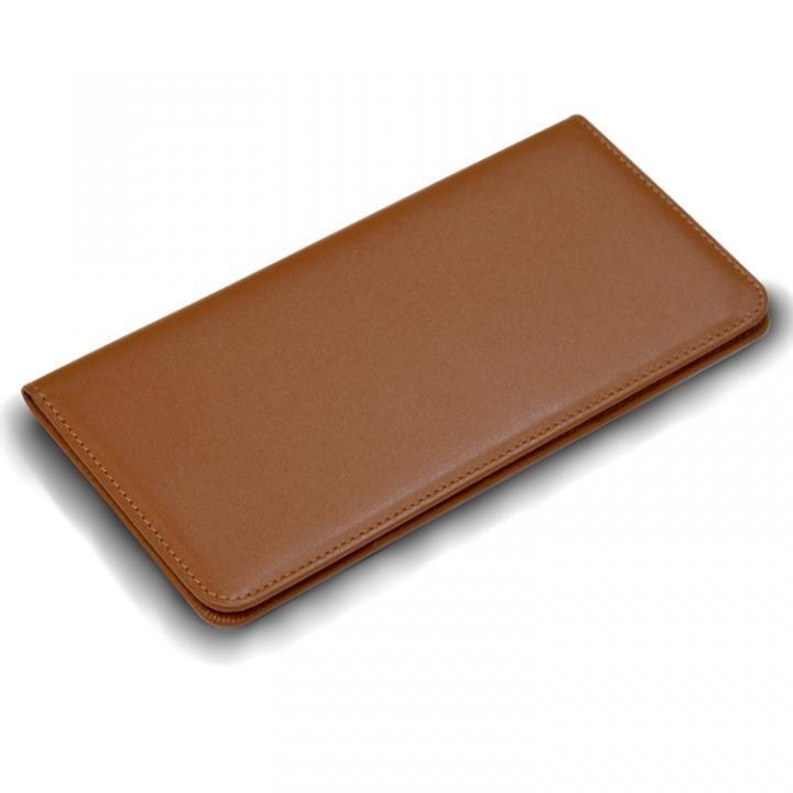 お札も入る手帳型汎用スマートフォンケース Simoni(シモーニ) ブラウン