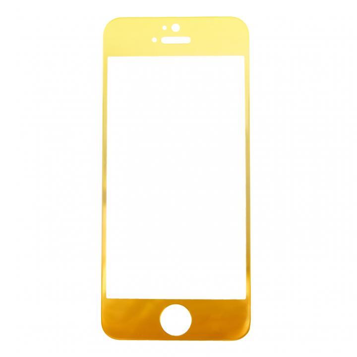 iPhone SE/5s/5 フィルム [0.33mm]ゴールドiPhoneへ変身 強化ガラス ゴールド iPhone 5s/5c/5_0