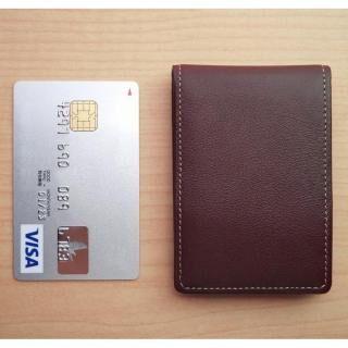 ハンドワーク・カードが入る小さな小銭入れ ブラウン【4月上旬】