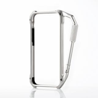 iPhone SE/5s/5用アルミバンパー カラビナ一体型 シルバー
