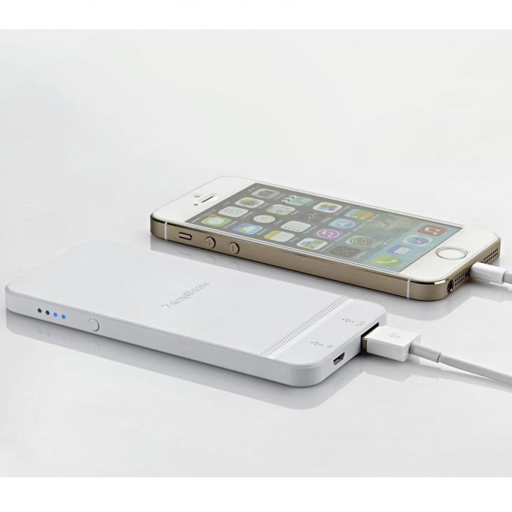 [2500mAh]  iPhone型モバイルバッテリー ホワイト MicroUSB_0