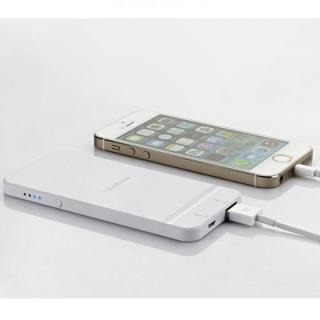 [2500mAh]  iPhone型モバイルバッテリー ホワイト MicroUSB