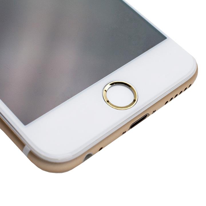 [0.55mm]液晶画面全面保護ゴリラガラス imos ホワイトxゴールド iPhone 6