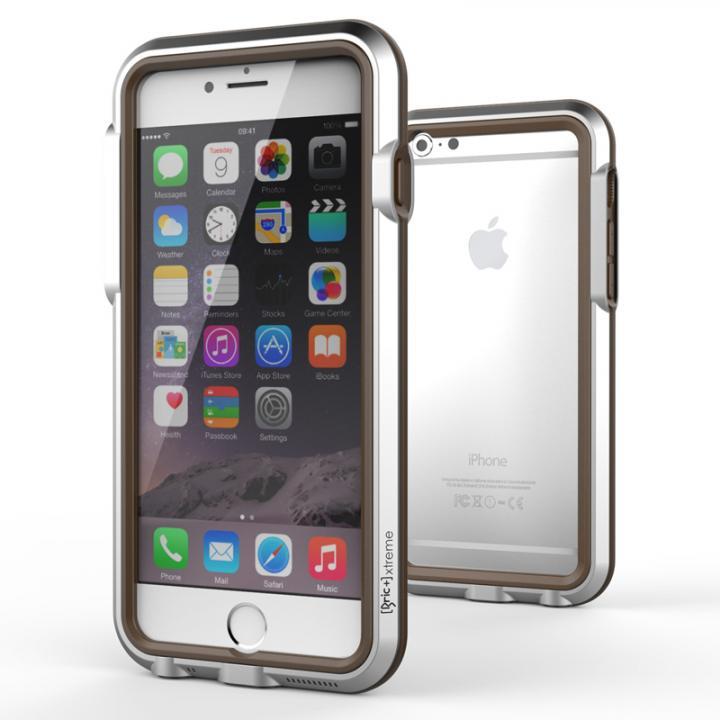 【iPhone6ケース】耐衝撃アルミバンパー BricWave Extreme シルバー/ブラウン iPhone 6_0