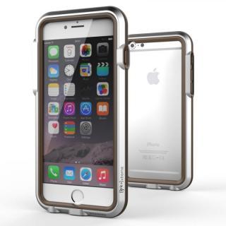 耐衝撃アルミバンパー BricWave Extreme シルバー/ブラウン iPhone 6