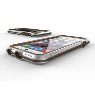 【iPhone6ケース】耐衝撃アルミバンパー BricWave Extreme シルバー/ブラウン iPhone 6_2