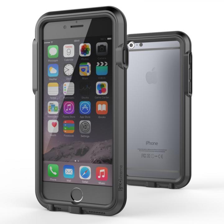 【iPhone6ケース】耐衝撃アルミバンパー BricWave Extreme チャコールグレー/ブラック iPhone 6_0
