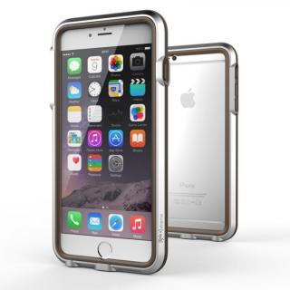 耐衝撃アルミバンパー BricWave Extreme シルバー/ブラウン iPhone 6 Plus