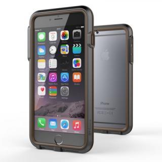 耐衝撃アルミバンパー BricWave Extreme チャコールグレー/ブラウン iPhone 6 Plus