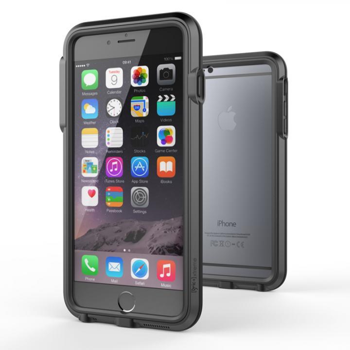 耐衝撃アルミバンパー BricWave Extreme チャコールグレー/ブラック iPhone 6 Plus